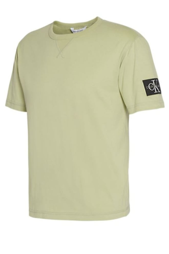 Calvin klein t-shirt met logo badge groen - Calvin Klein