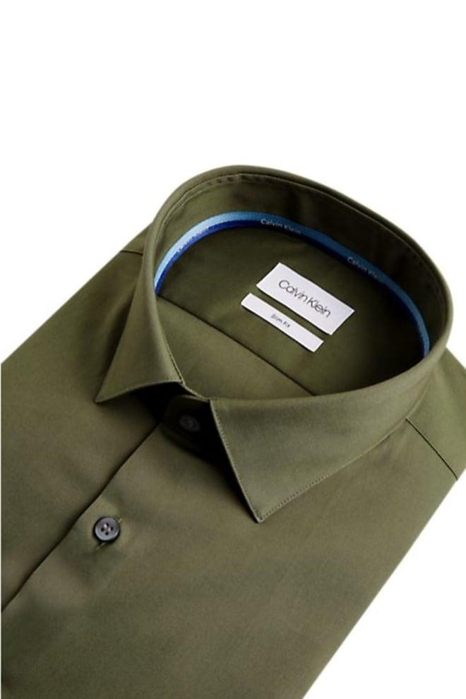 Calvin klein overhemd donker groen - Calvin Klein