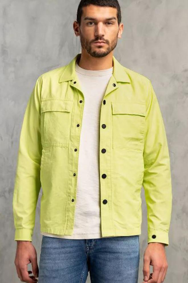 Cast iron tech ripstop overhemd groen - Cast Iron