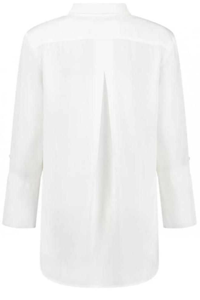 Circle of trust liv denim blouse cotton white wash - Circle Of Trust