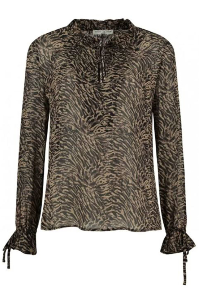 Circle of trust meda bruine chiffon blouse - Circle Of Trust