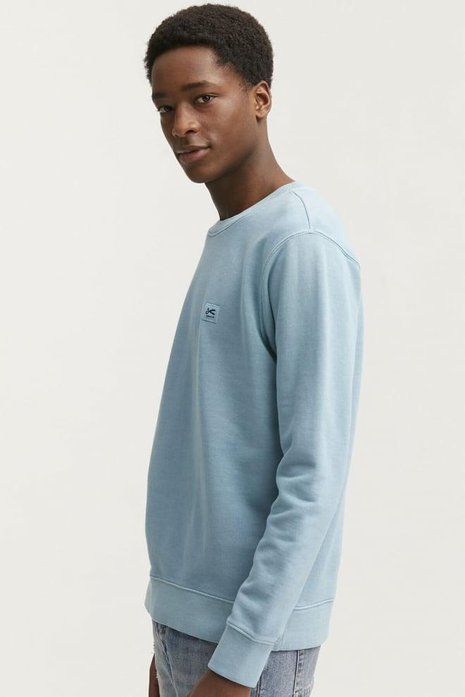 Denham applique sweater blauw - Denham