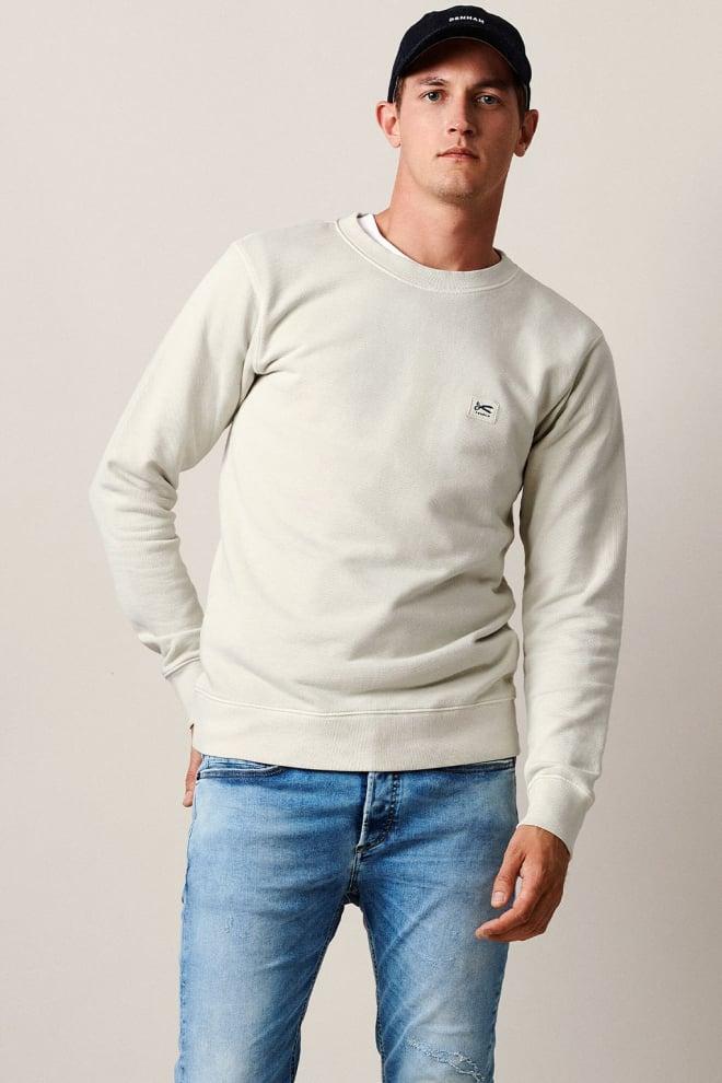Denham applique sweater beige - Denham