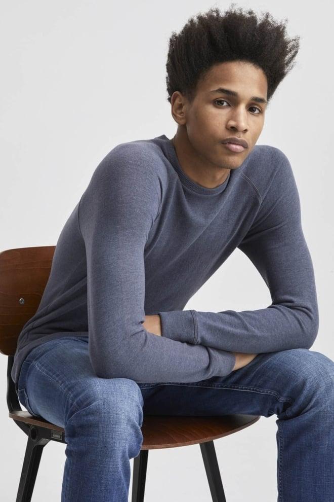 Denham jv raglan sweater donker blauw - Denham