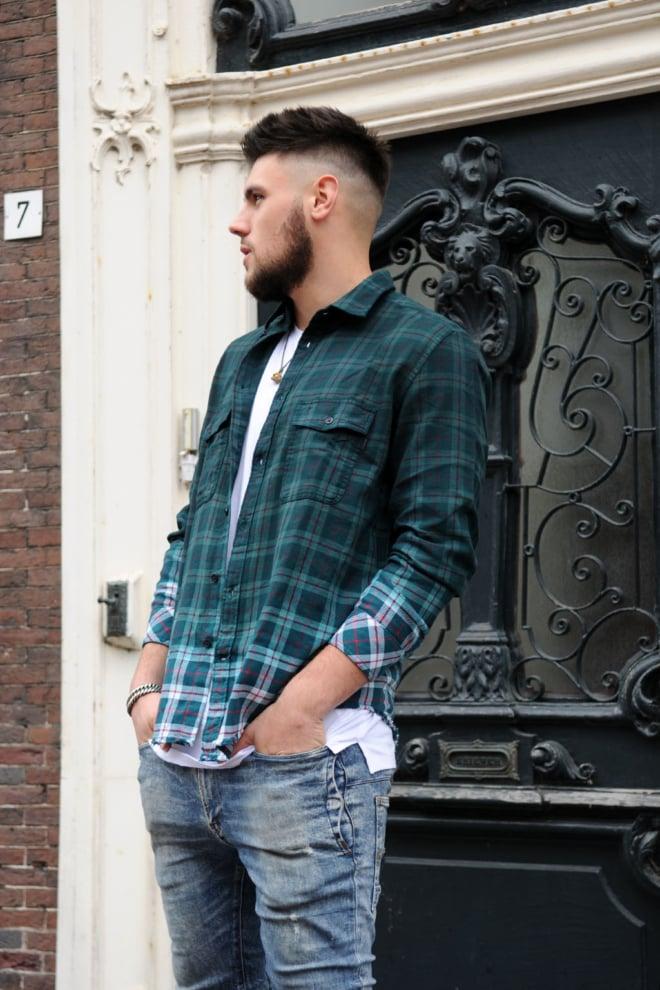Diesel s-miller shirt 05bx green - Diesel