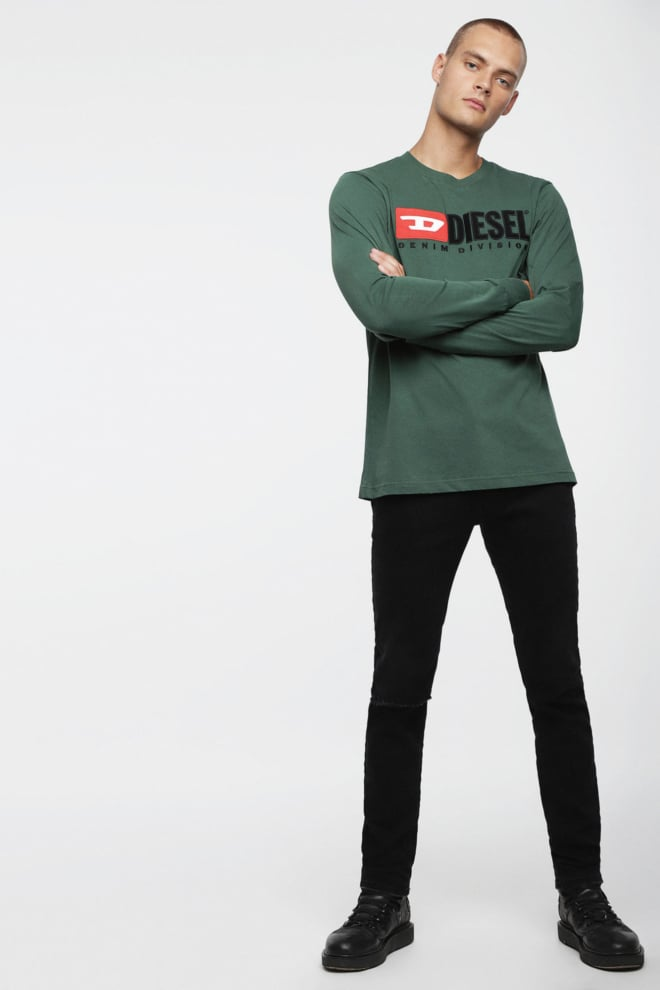Diesel t-just ls division t-shirt groen - Diesel