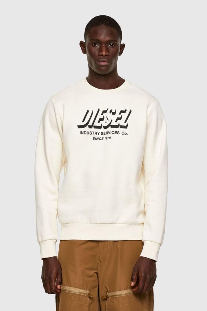 Diesel s-girk-a74 sweater wit - Diesel