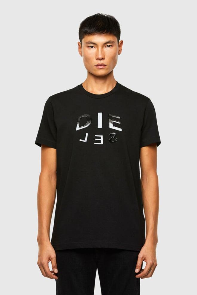 Diesel t-diegos-a1 t-shirt zwart - Diesel
