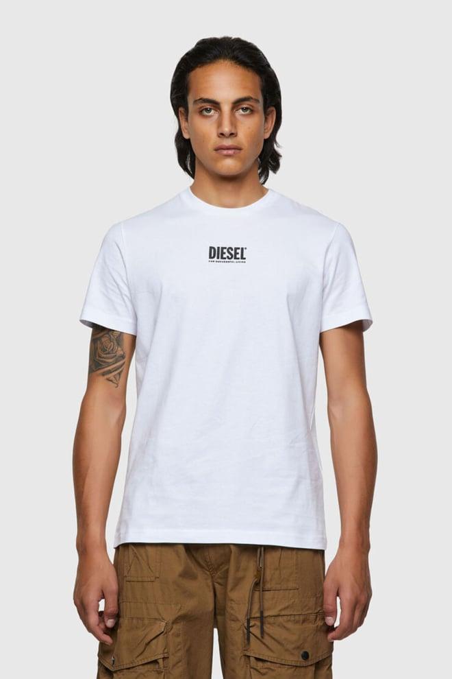 Diesel t-diegos-ecosmallogo t-shirt wit - Diesel