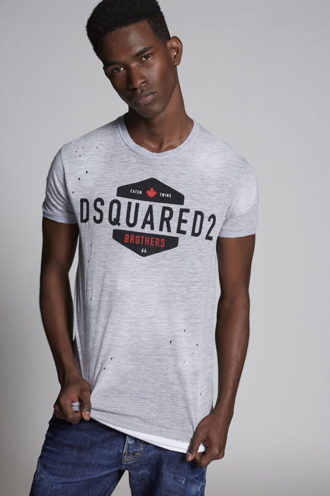 Dsquared brothers t-shirt grijs - Dsquared