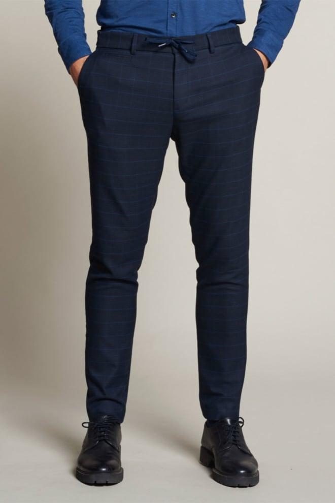 Dstrezzed quinn tailored jogger pants fancy check - Dstrezzed