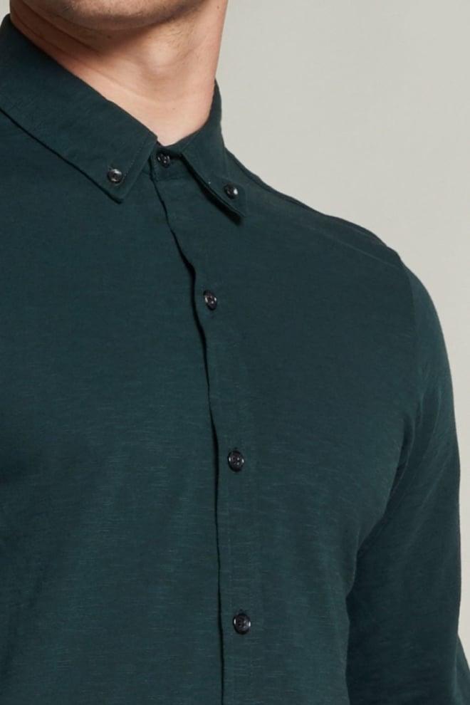 Dstrezzed jersey overhemd button down kraag groen - Dstrezzed