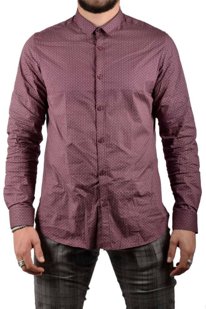 Dstrezzed shirt small collar minimal dot red - Dstrezzed
