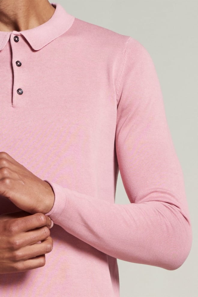 Dstrezzed polo cotton knit pigment - Dstrezzed