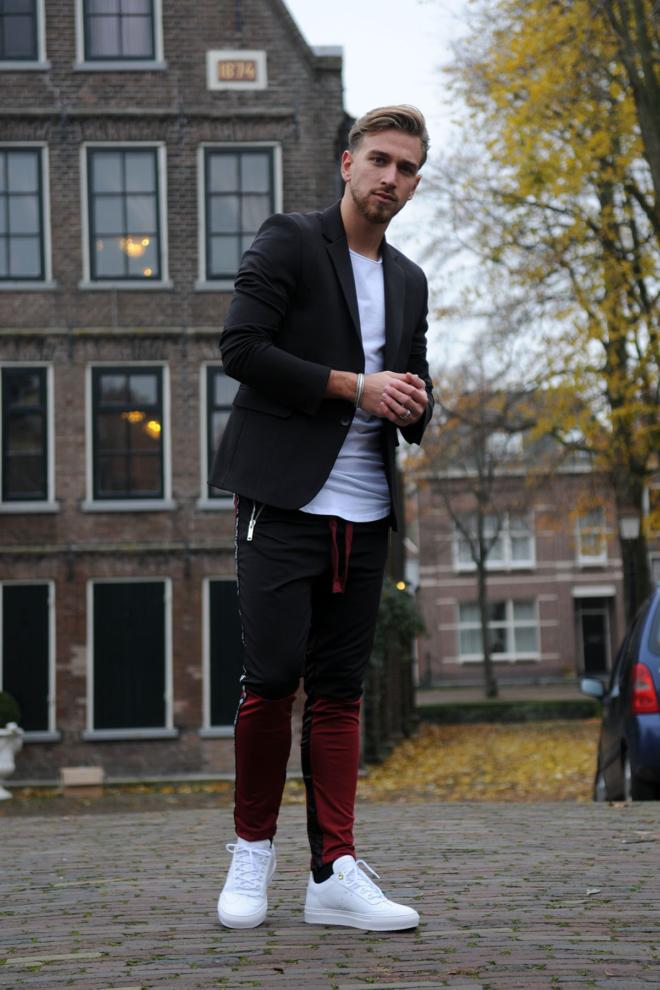 Elias rumelis ruben mens jacket with cuts zwart - Elias Rumelis