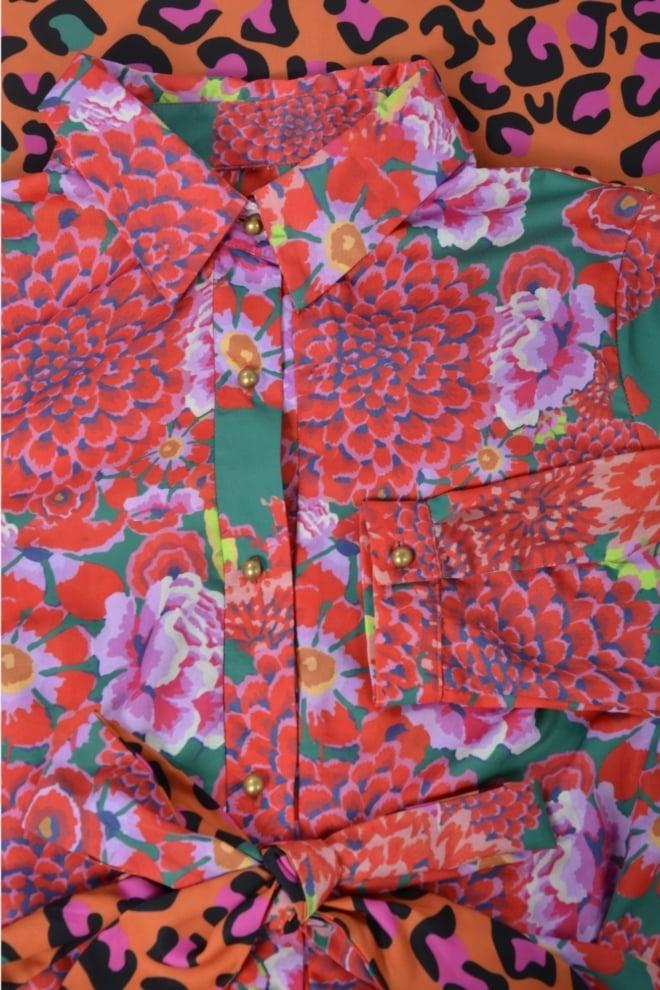 est seven soft rio rose & leopard pink dress - Est Seven