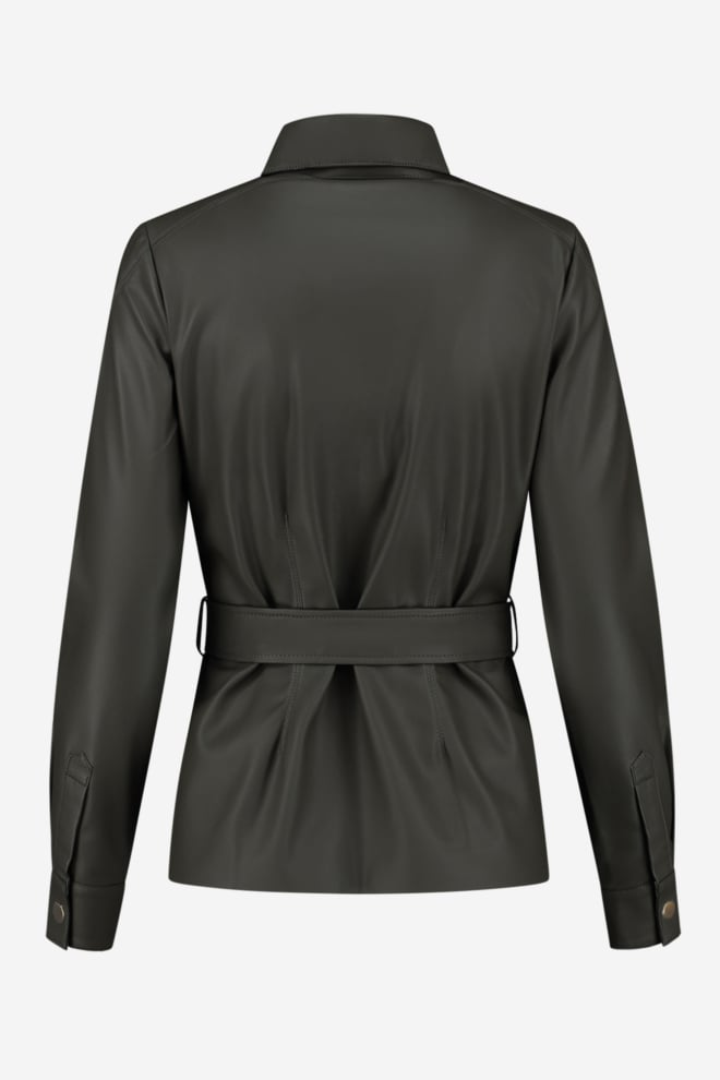 Fifth house mace belted blouse groen - Fifth House