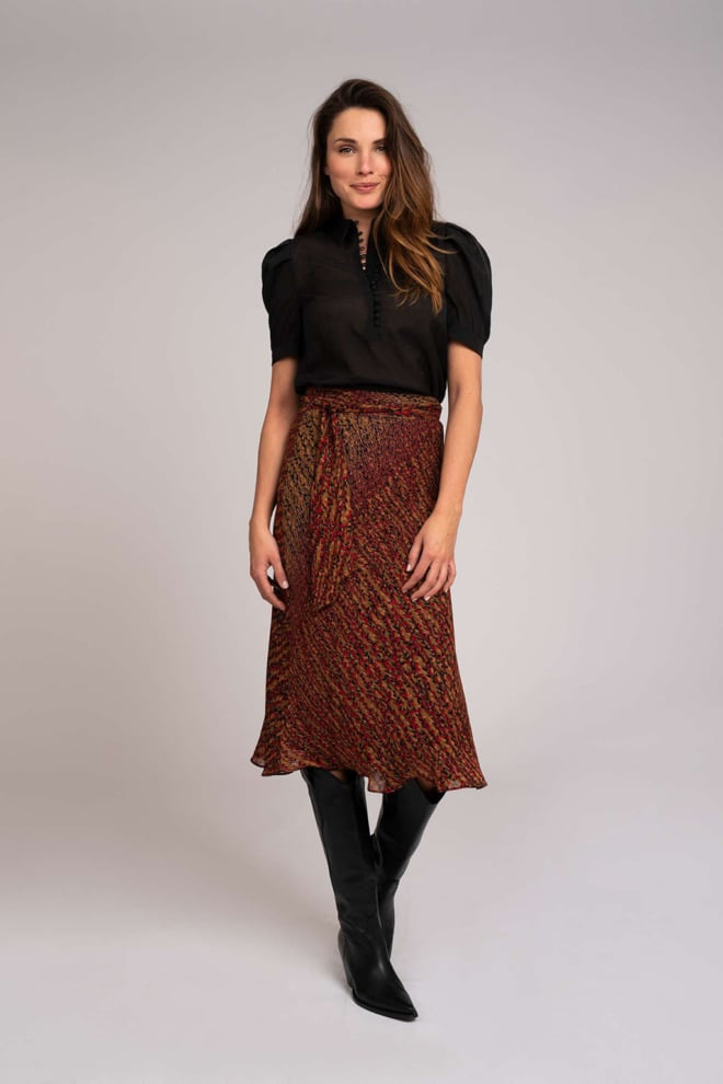 Fifth house raffa skirt met bloemenprint - Fifth House