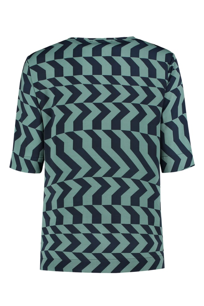 Fifth house shortsleeve top zigzag mint - Fifth House