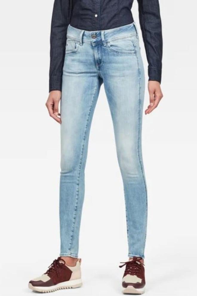 G-star raw lynn mid skinny jeans blauw - G-star Raw