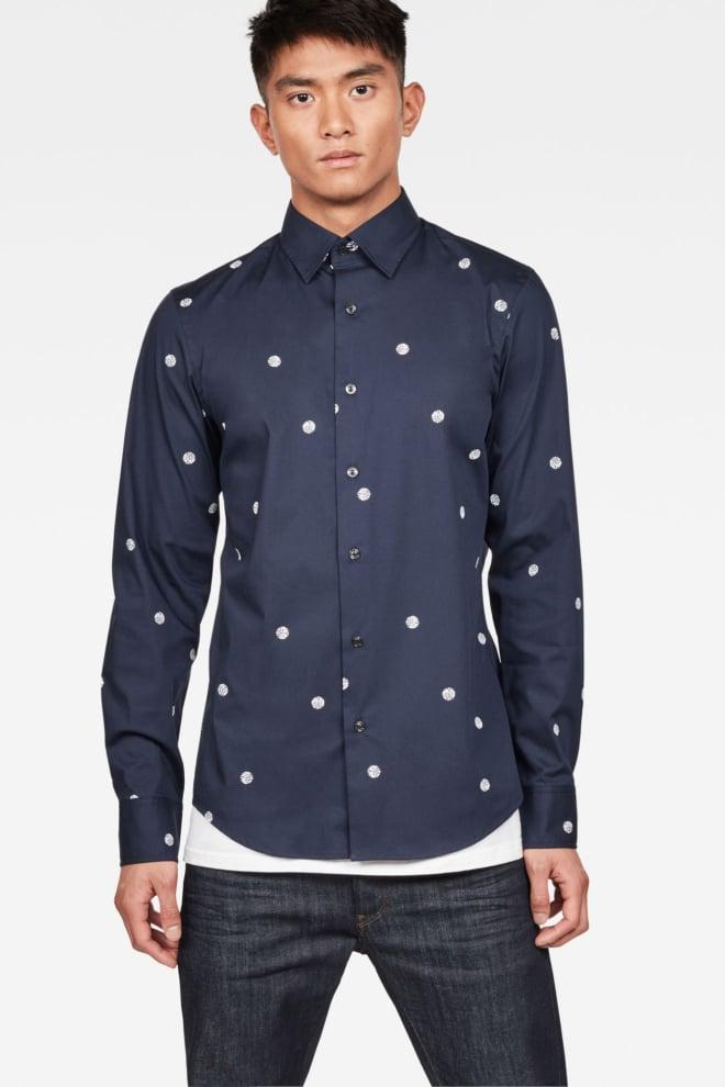 G-star raw core super slim overhemd donker blauw - G-star Raw