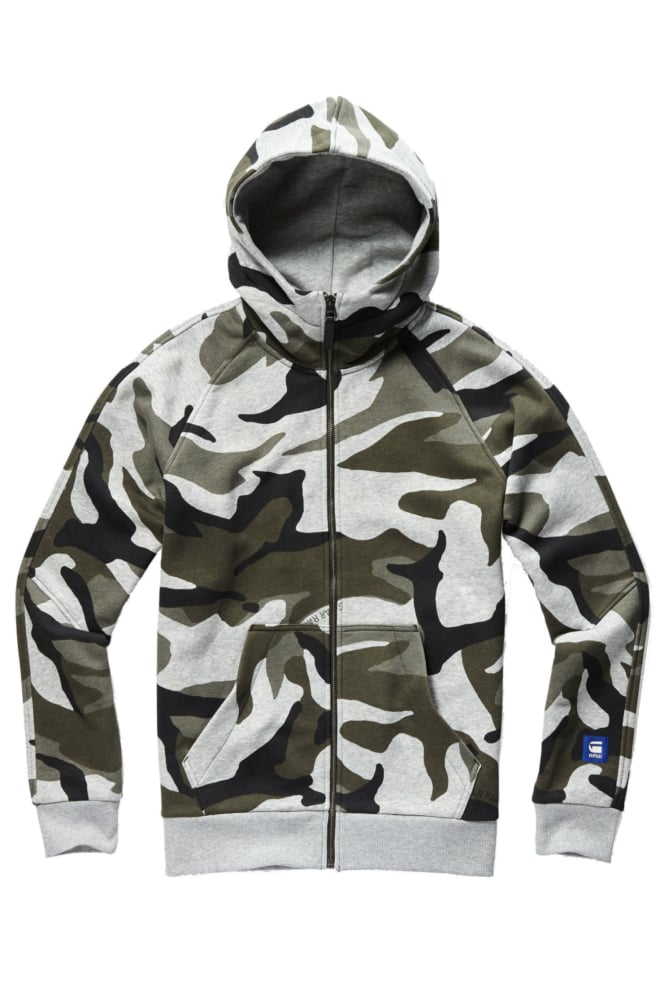 G-star raw graphic hooded zip grijs - G-star Raw
