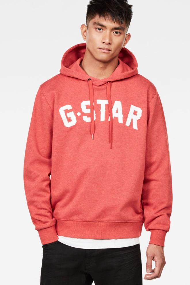 G-star halgen core hooded sweater red - G-star Raw