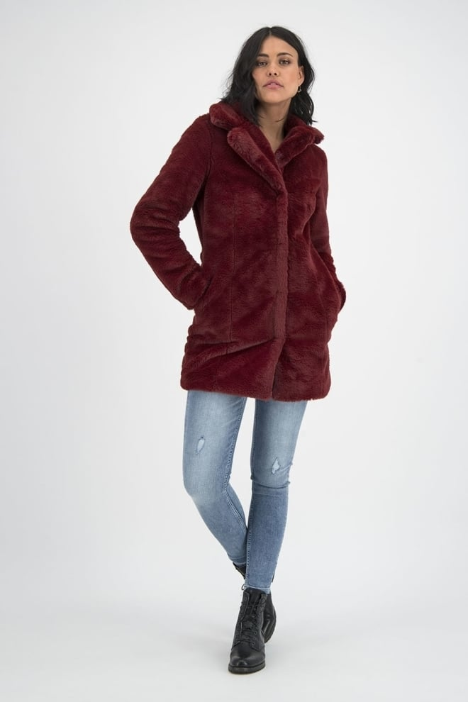 Goosecraft gallery223 faux fur jas rood - Goosecraft