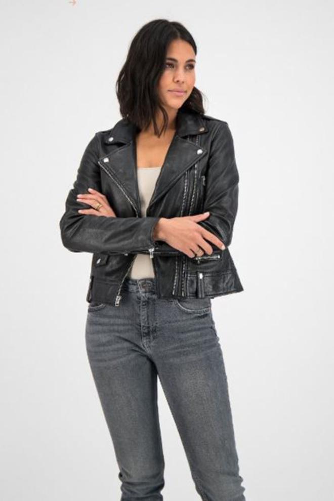Goosecraft gc lovemaker biker jacket black - Goosecraft