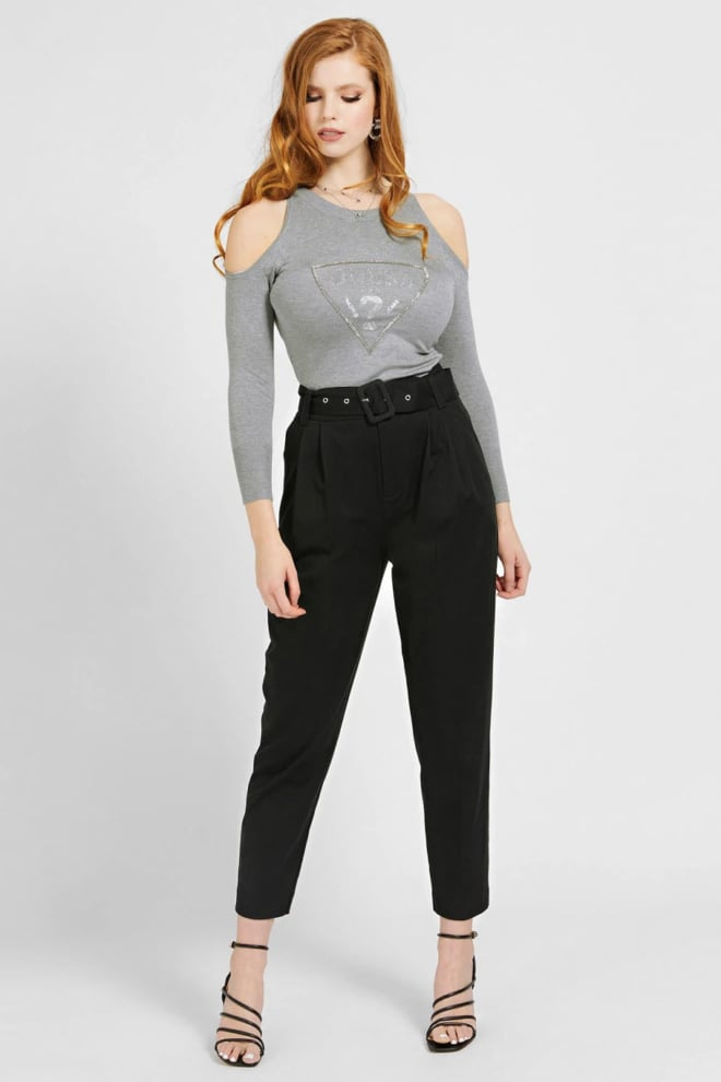 Guess aurelie cut out sweater grijs - Guess