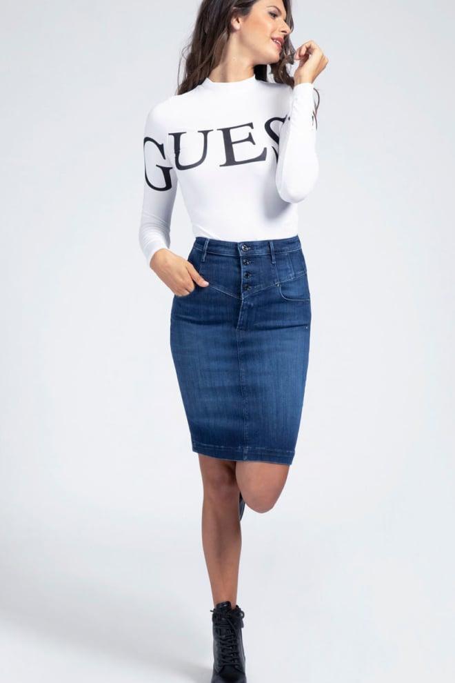Guess denim midi skirt - Guess