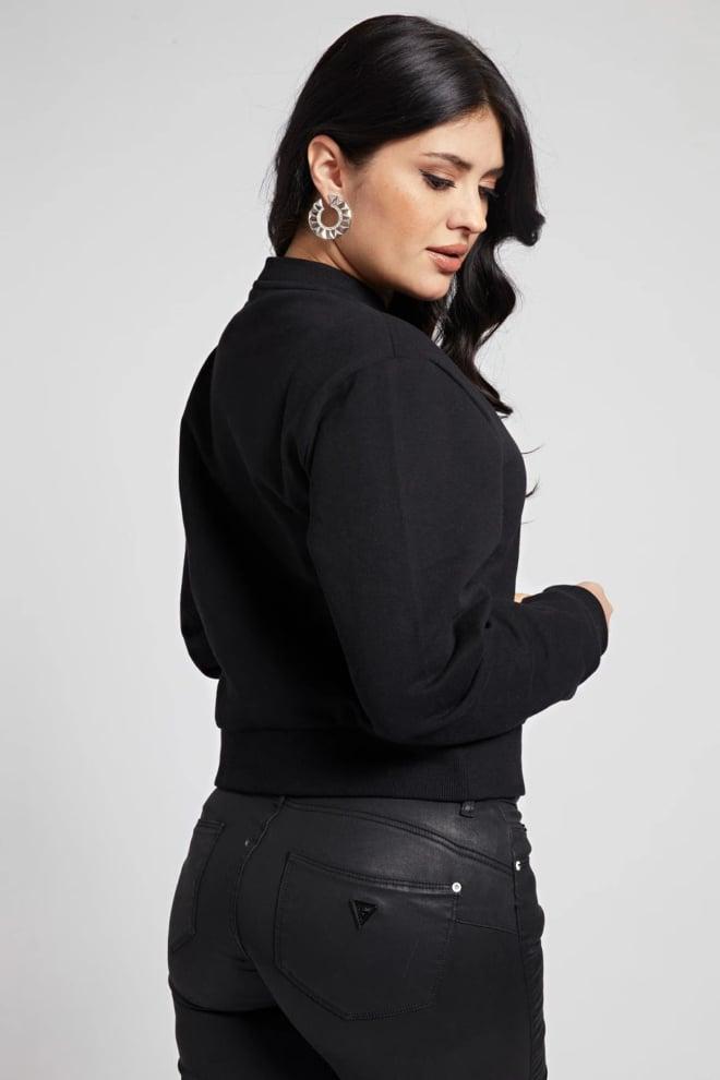 Guess icon fleece sweater zwart - Guess