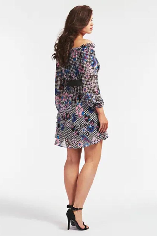 Guess jurk met riem en print all-over - Guess