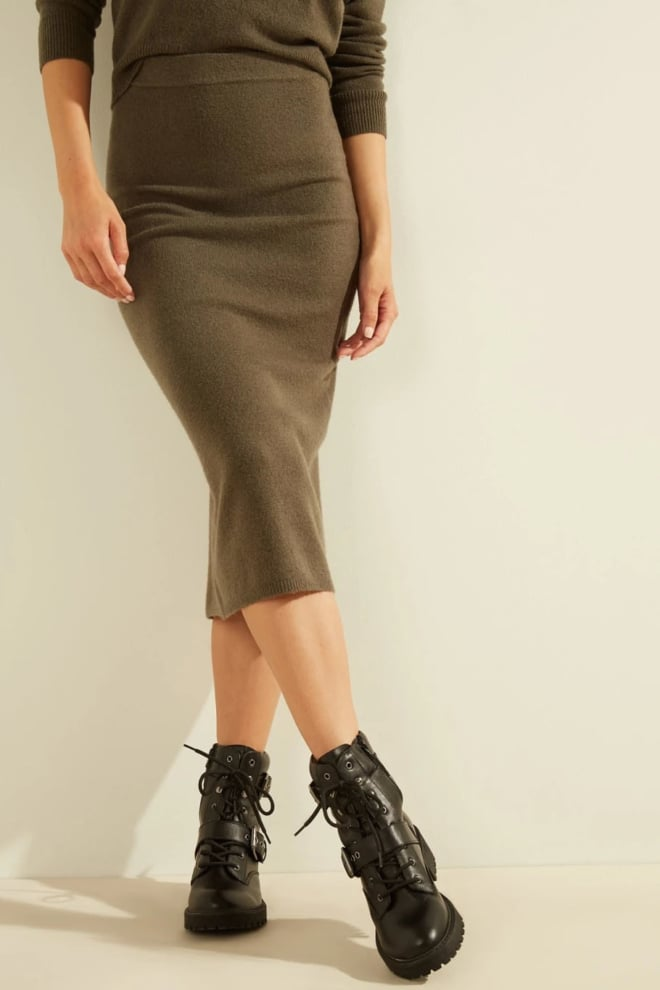 Guess kaia midi skirt groen - Guess