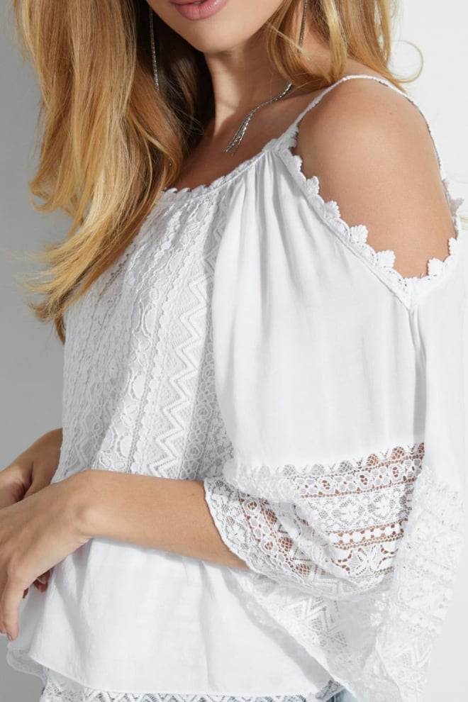 Guess olimpia top wit - Guess