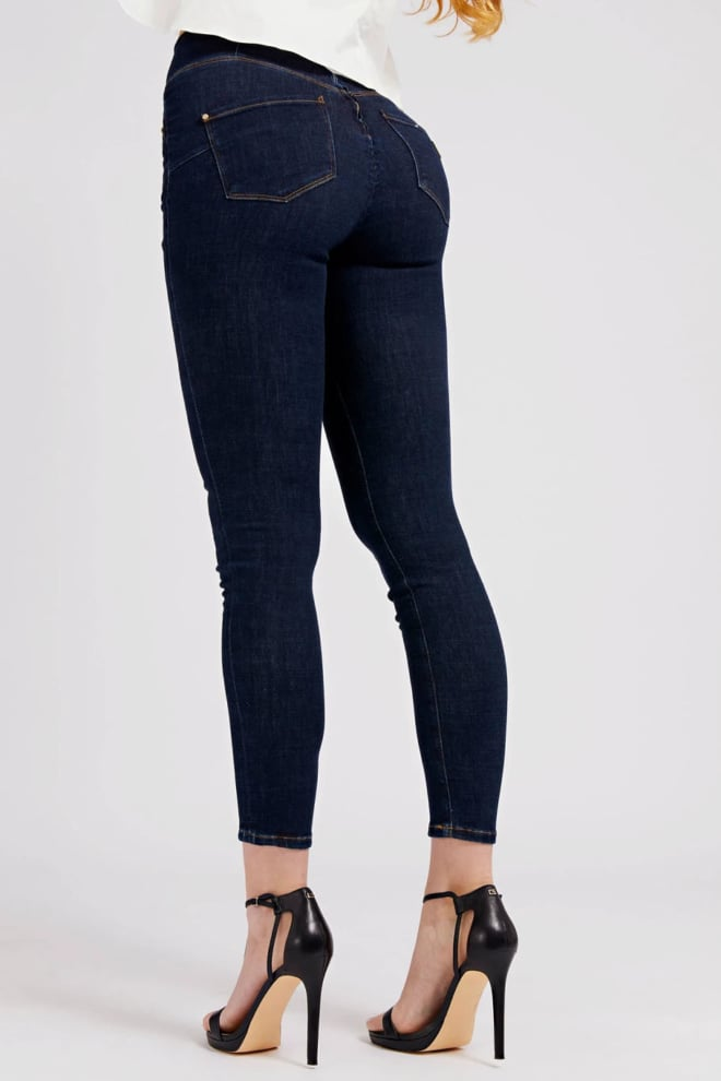 Guess push-op skinny jeans donkerblauw - Guess