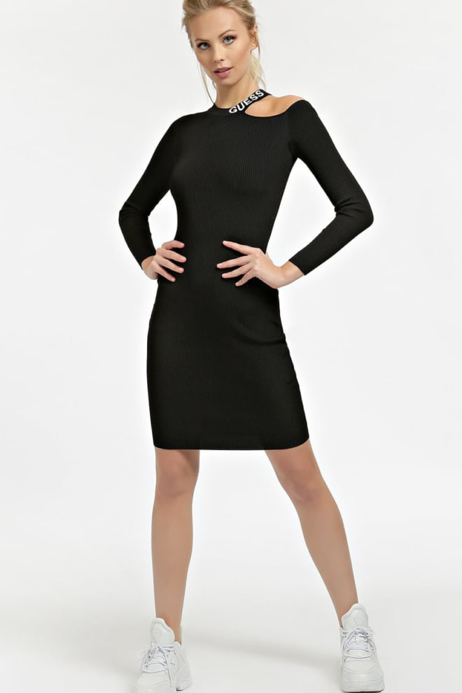 Guess rib dress cut-out sleeves - Guess