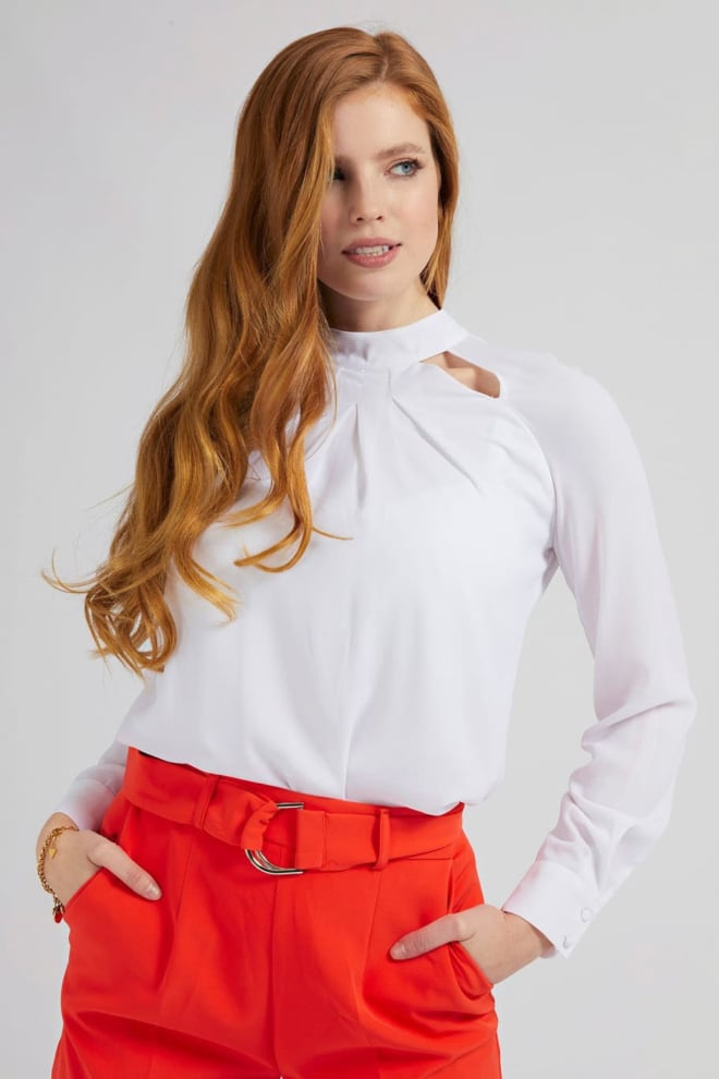 Guess rickie top blouse wit - Guess