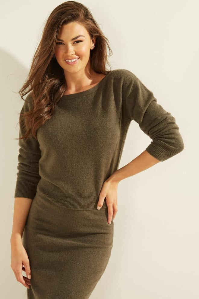 Guess tanya boat neck pullover groen - Guess