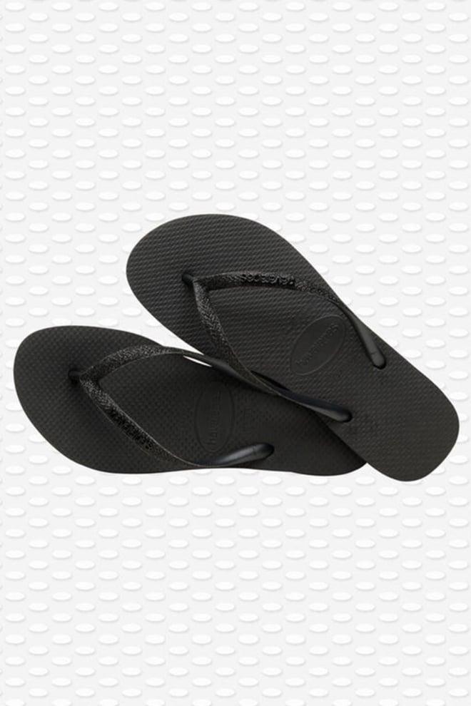 Havianas slippers slim glitter black - Havaianas