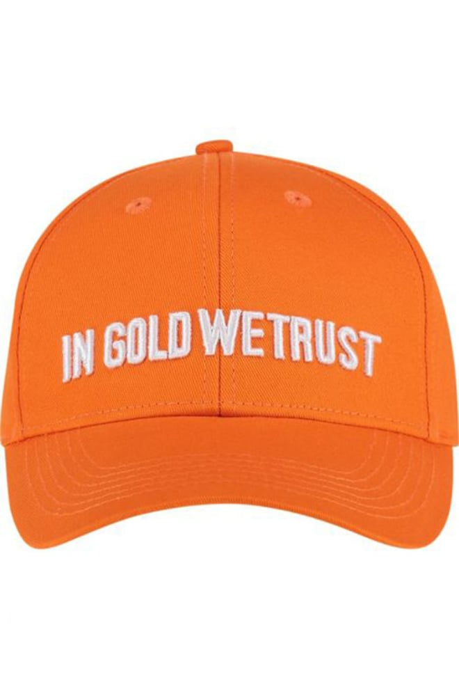In gold we trust cap oranje - In Gold We Trust