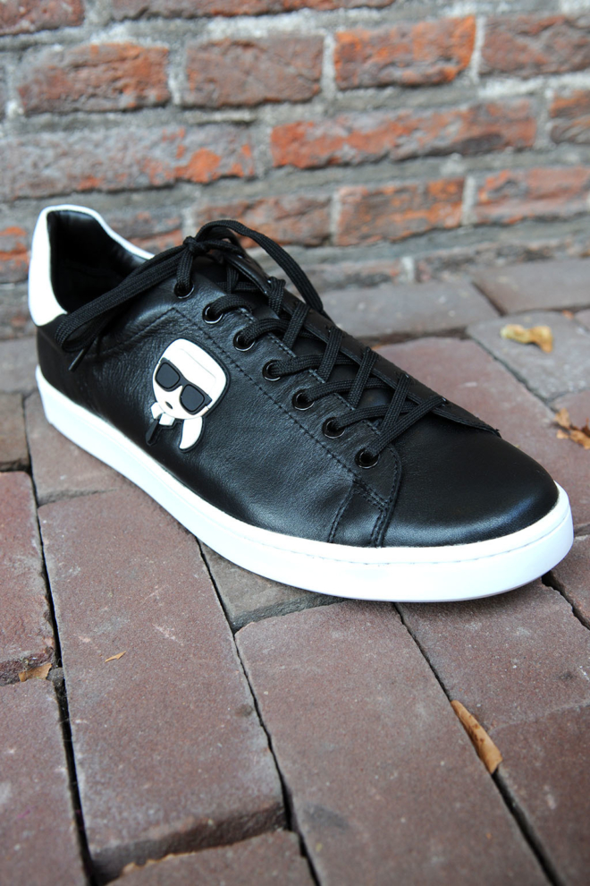 Karl lagerfeld kourt karl lkonik lo lace black sneakers - Karl Lagerfeld