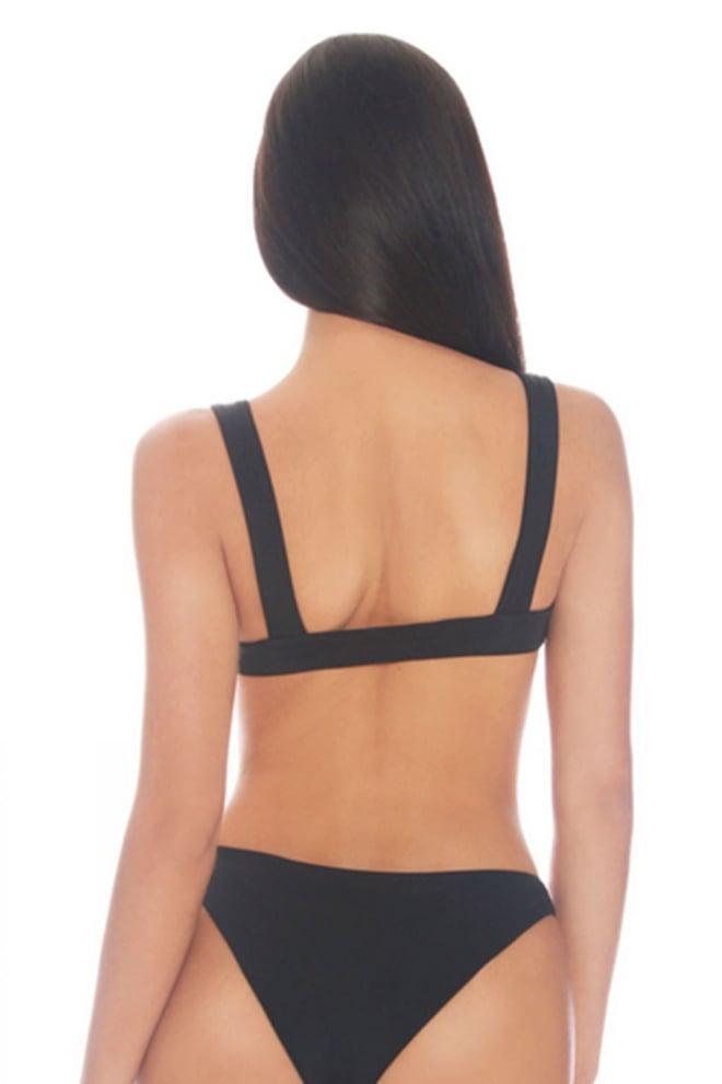 la sisters high waisted wrap bikini black - La Sisters
