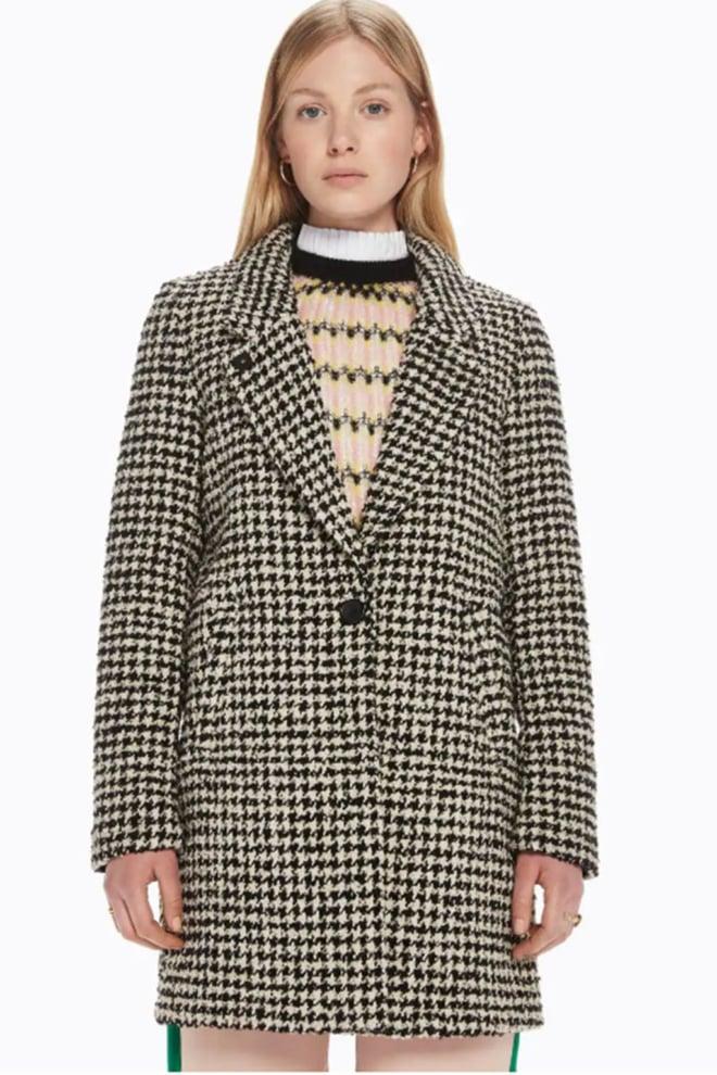 Maison scotch bonded wool jacket in checks ans solids - Maison Scotch