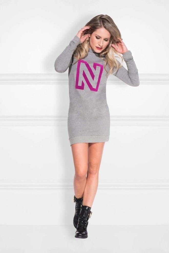 Nikkie n logo flock sweatdress - Nikkie By Nikkie