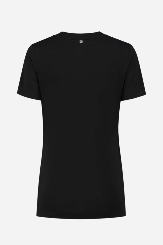 Nikkie diagonal t-shirt zwart - Nikkie