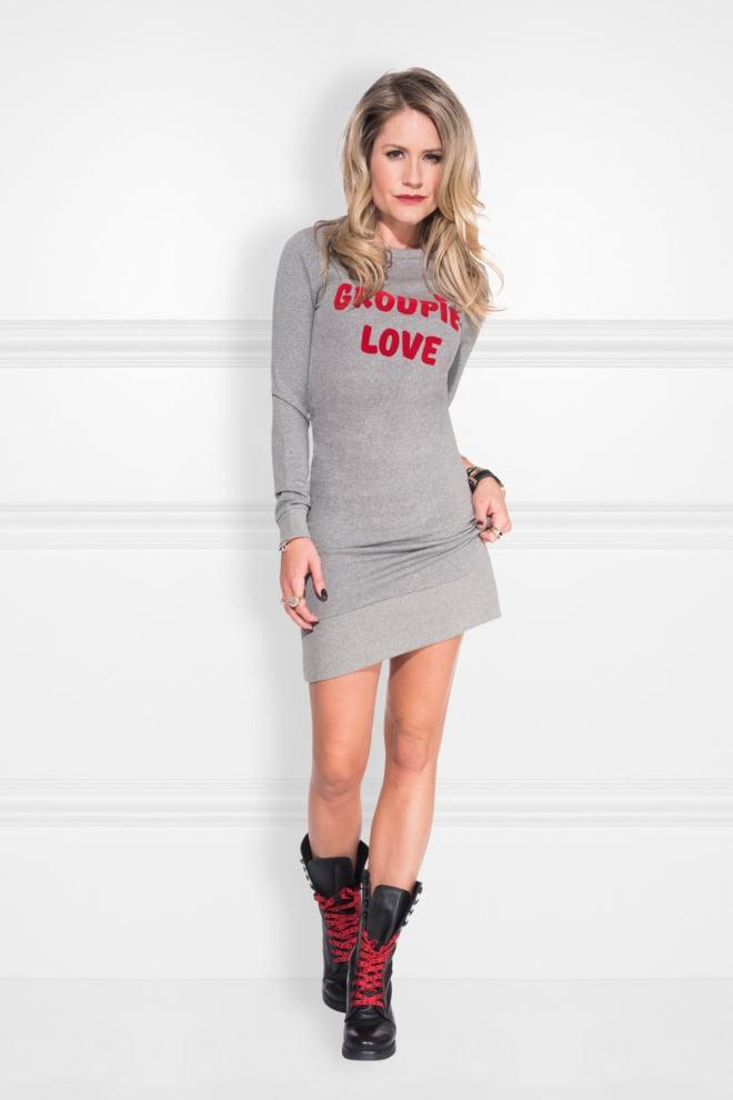 Nikkie groupie love sweatdress melange grey - Nikkie By Nikkie