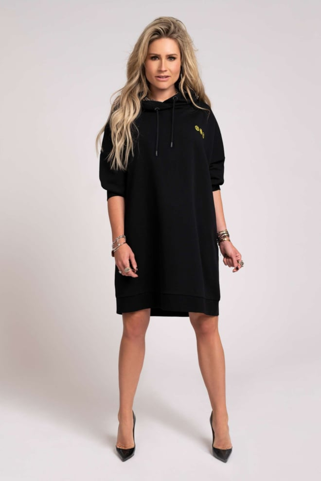 Nikkie collection hoodie dress zwart - Nikkie