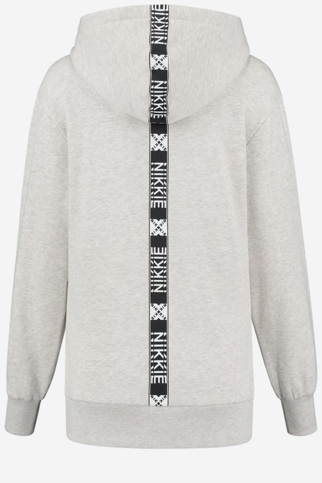 Nikkie back stripe hoodie melange creme - Nikkie