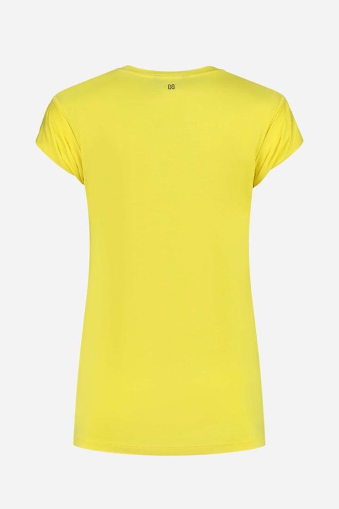 Nikkie icon t-shirt geel - Nikkie